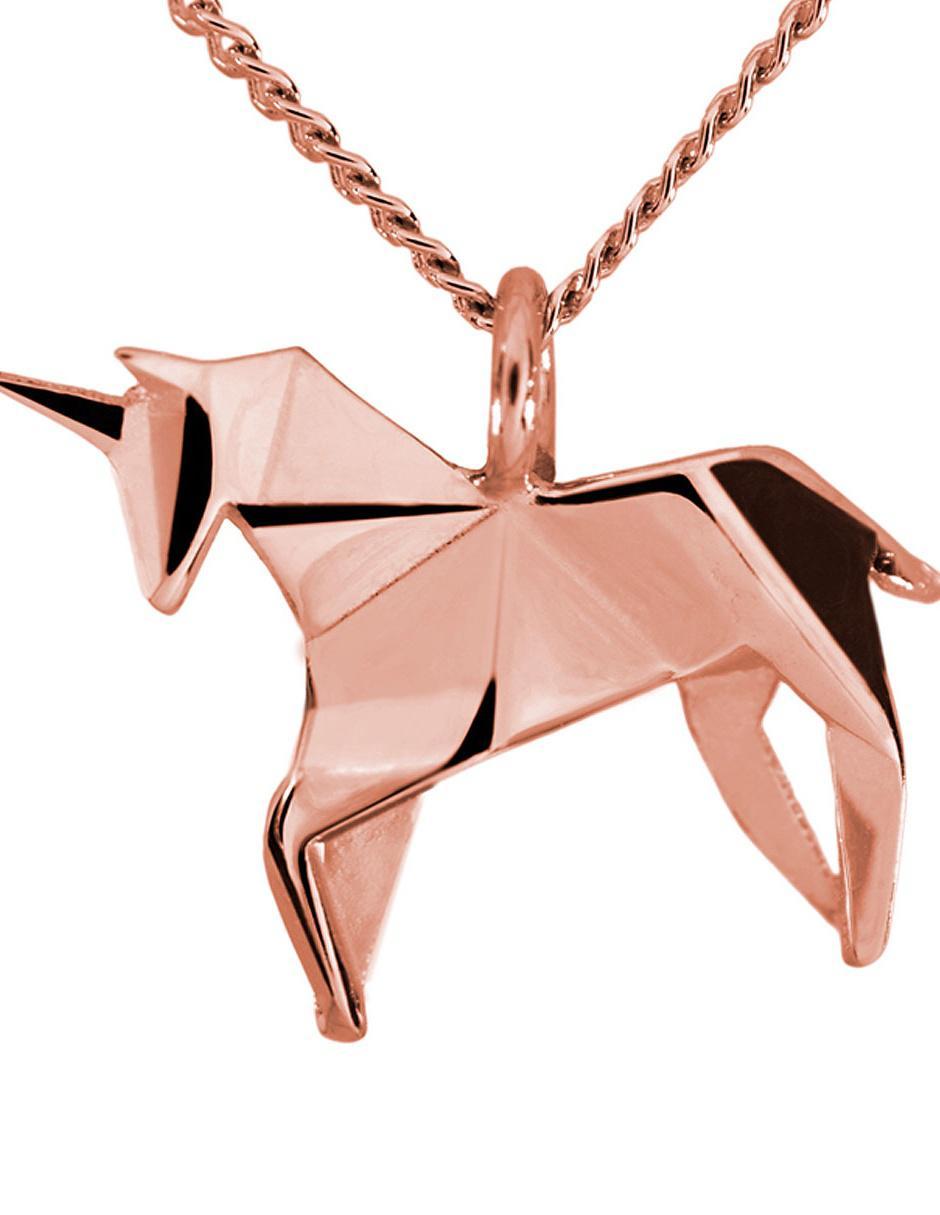 acb5159bfe1e Dije unisex Necora Origami de plata P925